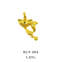 Fox Charm K Gold Pendant Yellow Gold